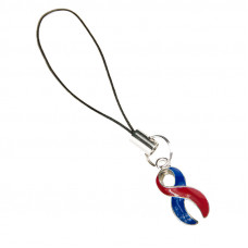 Congenital Heart Defects Awareness Charm (Blue & Red)