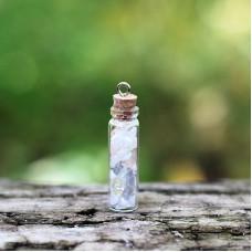 Moonstone Crystal Vile Pendant