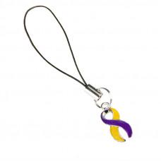 Autoimmune Hepatitis Awareness Charm (Purple & Yellow)