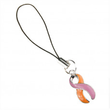 Eczema & Psoriasis Support Charm (Orange & Orchid)